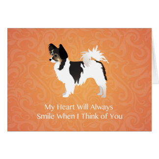 Long-haired Chihuahua Thinking of You Card