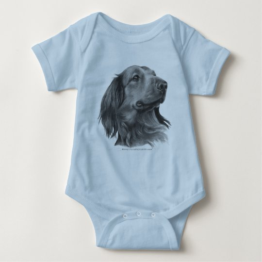 Long-Haired Dachshund Baby Bodysuit