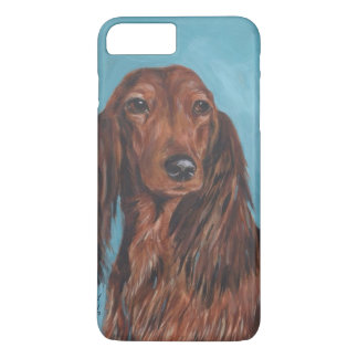 Long haired dachshund iPhone 7 plus case