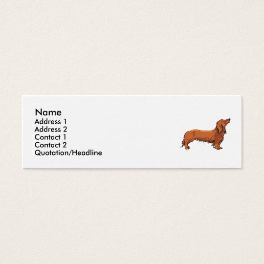 Long Haired Dachshund Mini Business Card