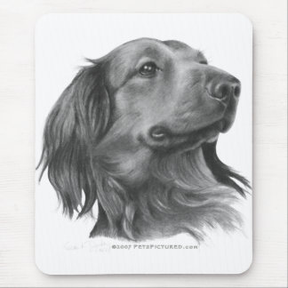 Long-Haired Dachshund Mouse Pad