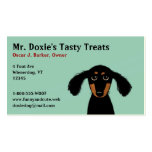 Long Haired Dachshund Puppy Business Cards