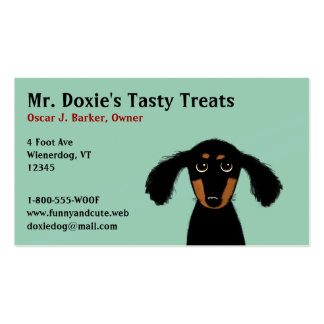 Long Haired Dachshund Puppy Double-Sided Standard Business Cards (Pack Of 100)