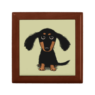 Long Haired Dachshund Puppy Keepsake Box