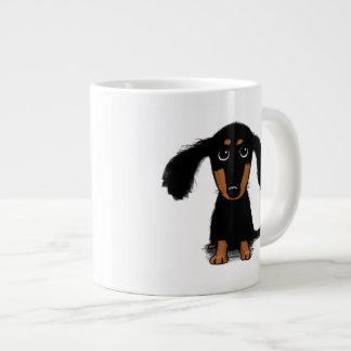 Long Haired Dachshund Puppy Extra Large Mugs