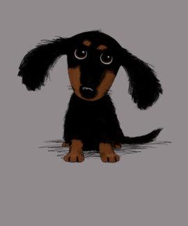 Long Haired Dachshund Puppy Tshirts