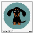 Long Haired Dachshund Puppy Wall Decal