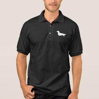 Long Haired Dachshund Silhouette Polo Shirt