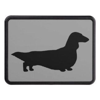 Long Haired Dachshund Silhouette Tow Hitch Cover