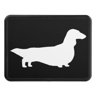 Long Haired Dachshund Silhouette Tow Hitch Covers