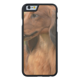Long Haired Dachshund Carved® Maple iPhone 6 Slim Case