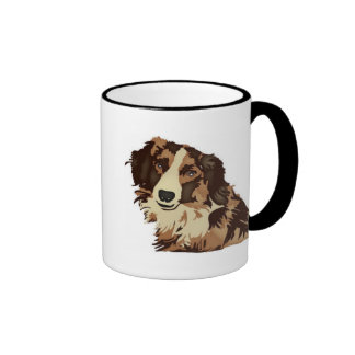 Long haired dog mug