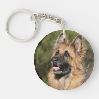 Long Haired German Shepherd 1 Keychain
