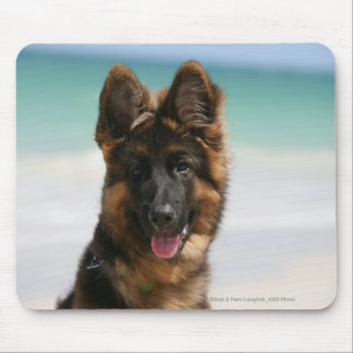 Long Haired German Shepherd Beach Mouse Pad