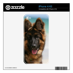 iPhone 4/4S Skin with German Shepherd Phone Cases design