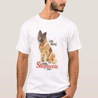 Long Haired German Shepherd Shirt
