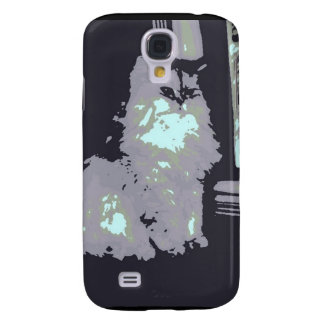 Long-haired Gray Kitty Cat Galaxy S4 Case