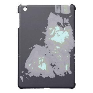 Long-haired Gray Kitty Cat iPad Mini Cases