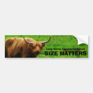 Long haired Highland Cow with Long Horns Bumper Sticker