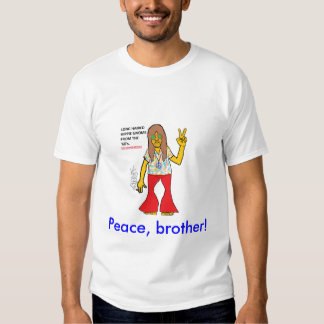 LONG HAIRED HIPPIE GNOME T SHIRT