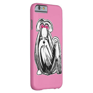 Long Haired Shih Tzu Pink iPhone 6/6s Case Barely There iPhone 6 Case