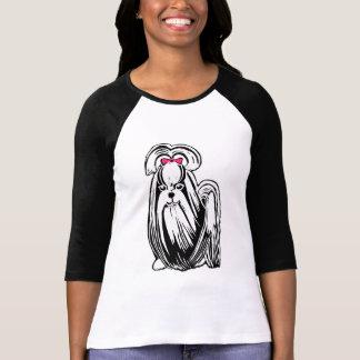 Long Haired Shih Tzu Women's Bella Raglan T-Shirt