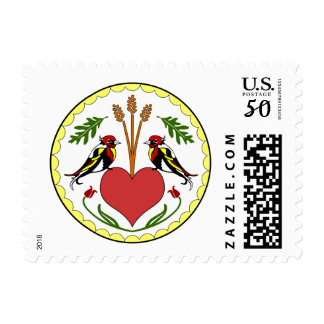 Long, Happy Relationship Hex- - Postage Stamp