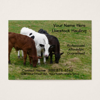 Long Haul  Cattle Trucking Business Card