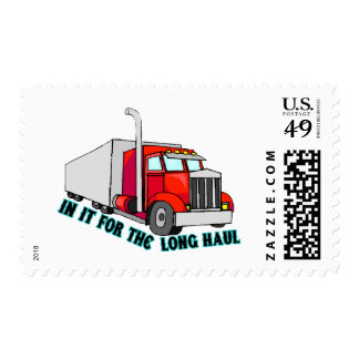 Long Haul Trucker Postage Stamps
