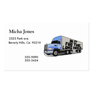 Long Haul Trucking Double-Sided Standard Business Cards (Pack Of 100)