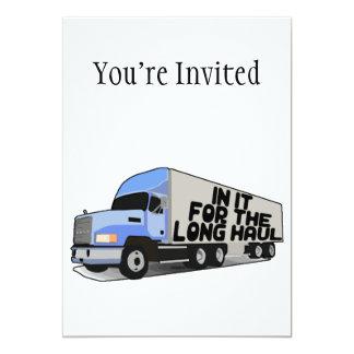 Long Haul Trucking 5x7 Paper Invitation Card