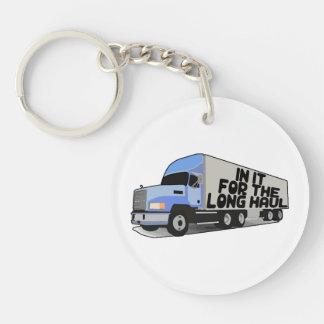 Long Haul Trucking Double-Sided Round Acrylic Keychain