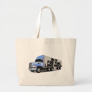 Long Haul Trucking Large Tote Bag