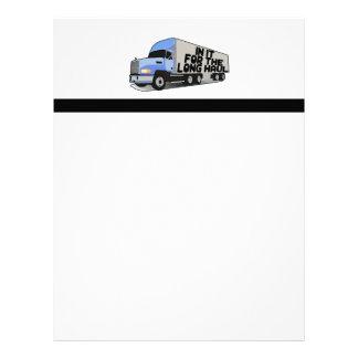 Long Haul Trucking Letterhead