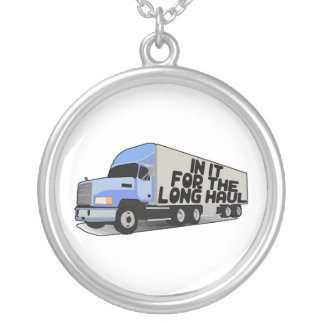 Long Haul Trucking Silver Plated Necklace