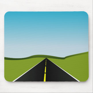 long highway mouse pad