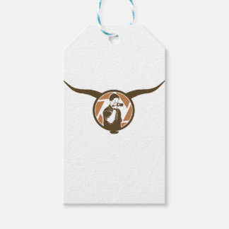 Long Horn Bull Videography Gift Tags