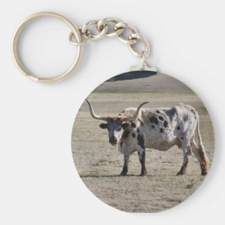 Long Horn Cow Keychain