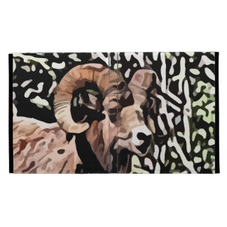 long horn sheep painting iPad folio case