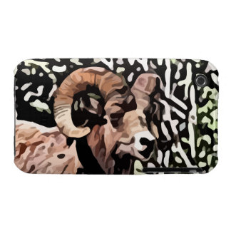 long horn sheep painting iPhone 3 covers