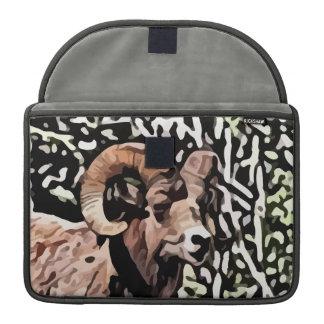 long horn sheep painting MacBook pro sleeve