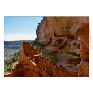 Long House Cliff Dwelling Greeting Card