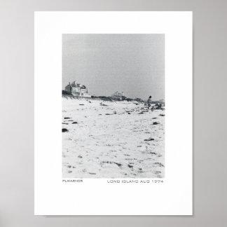 Long Island beach - 1974 Poster