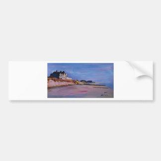 Long Island Beach - Hamptons South Fork Beach walk Bumper Sticker