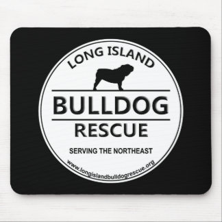 Long Island Bulldog Rescue Logo Mouse Pad