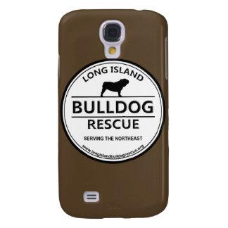Long Island Bulldog Rescue Logo w/Brown Galaxy S4 Case