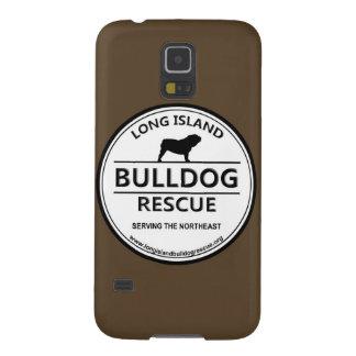 Long Island Bulldog Rescue Logo w/Brown Galaxy S5 Cases