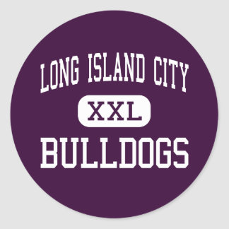 Long Island City - Bulldogs - Long Island City Classic Round Sticker