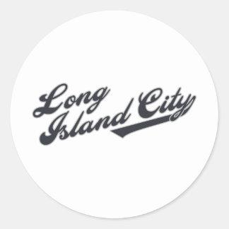 Long Island City Classic Round Sticker