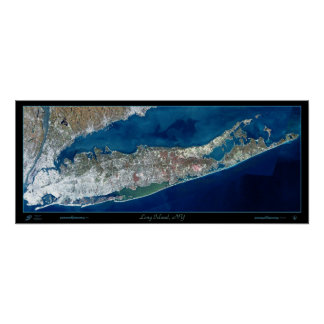Long Island foto por satélite del poster de la im